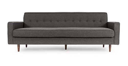 Kardiel Eleanor Mid-Century Contemporary Sofa, Cadet Grey Tweed Cashmere Wool