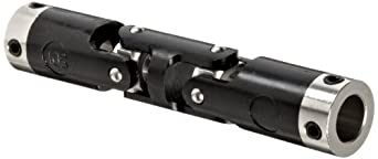 """Boston Gear JPD251/8 Universal Joint, Double, Molded, 0.125"""" Bore, 0.390"""" Bore Depth, 1.359"""" Length, 0.250"""" Outside Diameter, 2.5 ft/lbs Max Torque, Delrin"""