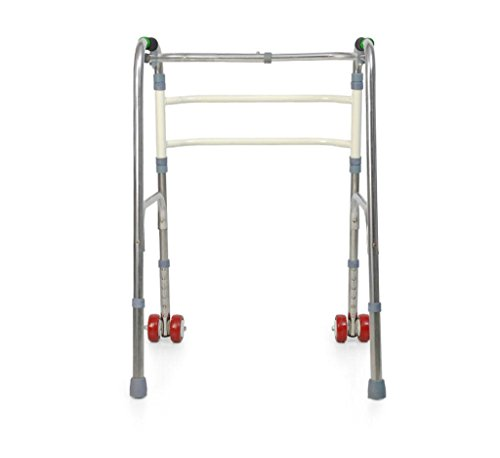 Walker With Pulleys Stainless Steel Folding Elderly Disabled Walker Quadruped Crutches Walker Folding Deluxe by jiaminmin