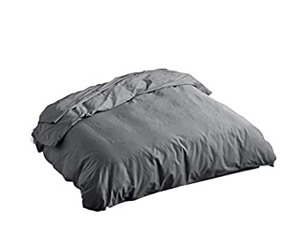 Soft /& Luxurious Solid Black Twin Duvet Insert Quilt Cover Hotel Quality World Home Furnishing 450 Thread Count Long Staple Cotton 1 Piece Zippered Duvet Cover with Corner Ties