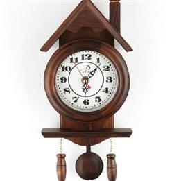 Retro Mini Solid Wood Wall Clock With Pendulum