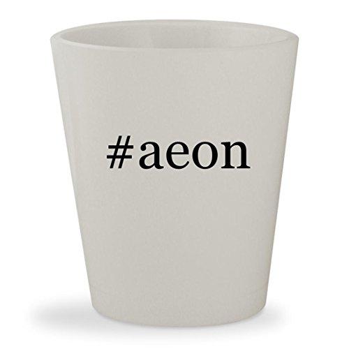 Aeon Flux Movie Costume (#aeon - White Hashtag Ceramic 1.5oz Shot Glass)