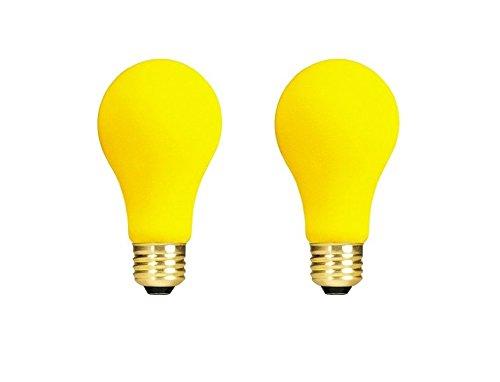 (Bulbrite 40A/YB 40-Watt 130-Volt Long Life Incandescent Bug Light - 2 Pack)
