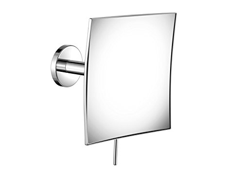 SCBA Wall Mounted Square 4X Adjustable Cosmetic Makeup Magnifying Mirror - Brass