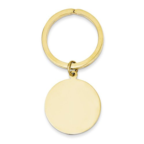 (FindingKing 14K Yellow Gold Engravable Round Disc Key)