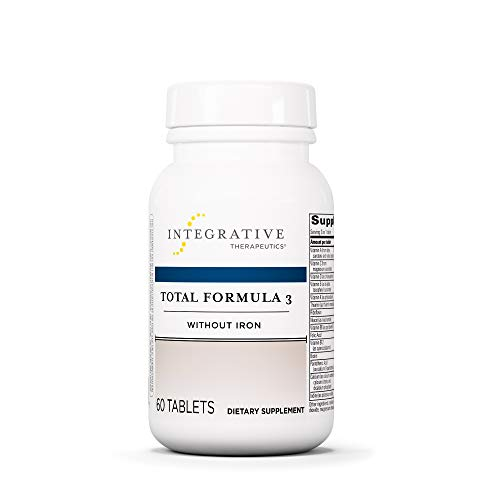 Integrative Therapeutics - Total Formula 3 Without Iron - Once-Daily, Iron-Free Multivitamin/Mineral Supplement - 60 Tablets