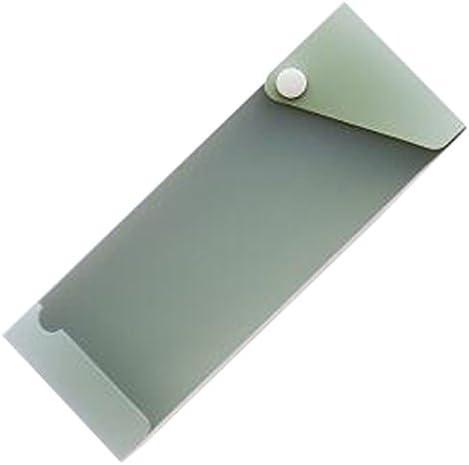 2PCS Creative Simple Gürtelschnalle Pull Push Typ Bleistift Briefpapier Tasche Stift Fall Bleistift Tasche, Erbsengrün