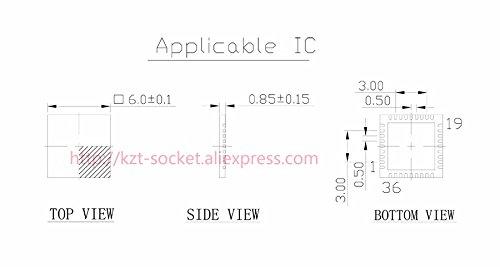 YYYY-MM-DD-dd 8 X 8 50 pieces RTC STMICROELECTRONICS M41T60Q6F IC QFN-16
