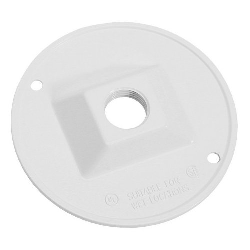 Sigma Electric 14381WH 1/2-Inch 1 Hole Round Lamp holder Cover, (Weatherproof Lampholder)