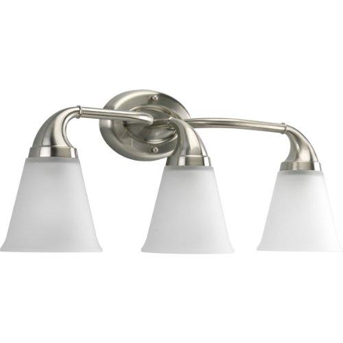 Progress Lighting P2760-09 3-Light Bath Which Mounts Up Or Down, Brushed (3 Light Down Lighting)