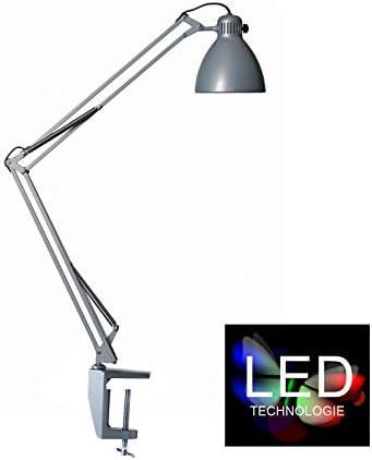 Glamox Luxo LED-Arbeitsplatzleuchte L-1 mit Tischklemme, schwarz, 5,5 Watt