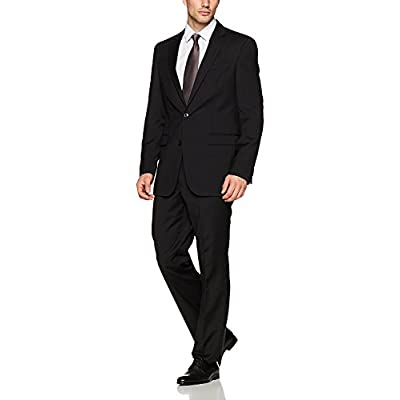 Adam Baker Men's Slim Fit 2-Piece Single Breasted Two Button Wool/Silk Blend Suit - Colors at Amazon Men's Clothing store