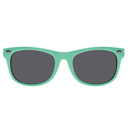 Forepin® Gafas de Sol Niña (2-10años) Wayfarer Marco Flexible Lentes  Polarizadas 9de6dcf8f374