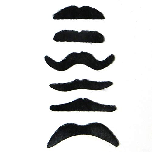 Party DIY Decorations - 6pcs Lot Clown Costume Party Halloween Fake Mustache Moustache Funny Beard Whisker - Hair Dress Lace Funny Morgendorffer Halloween Mustach Fake Fake Ro Sunglass Glass -