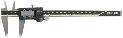 Mitutoyo 500-197-30CAL Absolute Advanced Onsite Sensor (AOS) Digimatic Caliper with Calibration, Inch/Metric, 0-8