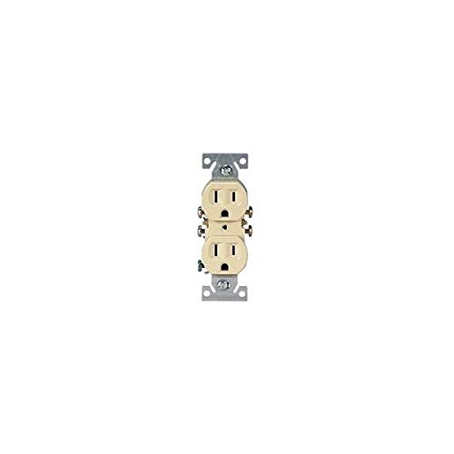 COOPER WIRING 270V Grounded Straight Blade Duplex Receptacle, 125 V, 15 a, 2 Pole, 3 Wire, Clear