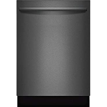 Bosch SHXM78W54N 800 Series 24 Inch Built In Fully Integrated Dishwasher with 6 Wash Cycles, in Black Stainless Steel