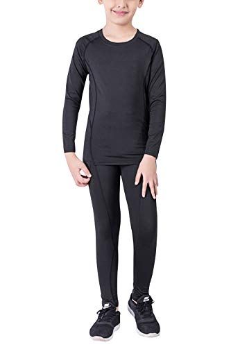 - Minghe Boy's Base Layer Thermal Underwear Shirts and Pant 2 Pcs Set Thin Long John For Kids