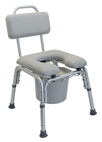 Lumex Platinum Collection Deluxe Padded Commode Shower Chair, 7946KD-1
