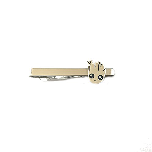 Classic Marvel Baby Groot Silver Tone Tie Clip w/Gift Box -