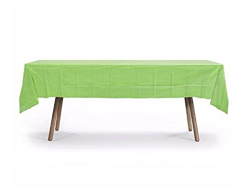 10 Pack Rectangular Table Cover,Premium Plastic Tablecloth, Plastic Table Cover Reusable (Lime Green)