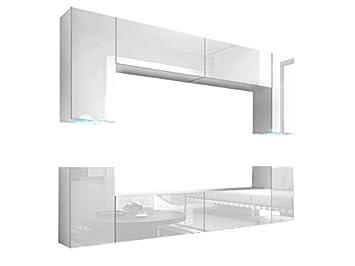 Homedirectltd Future 1 Wohnwand Anbauwand Schrankwand Möbel Wand Tv