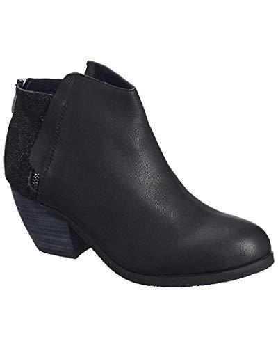 Zip Women's Bootie Black Leather Antelope 600 Hidden xpwd7cIqP
