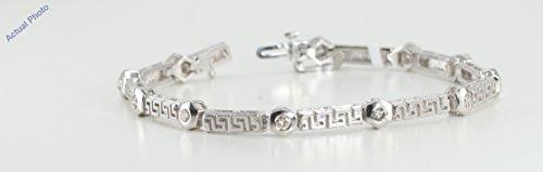Pendentif et collier avec un solitaire diamant Rond Or blanc-585/1000 ( 1 Ct, H-I Couleur, SI2 Clarté)