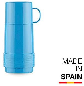 Valira Colección 1969 - Botella de vidrio aislante de doble pared con vacío de 0,25 L hecha en España, color azul