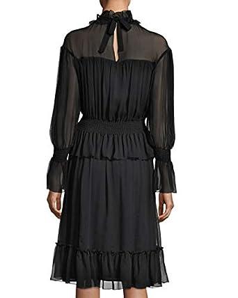 b23cb1490e Chloe Long-Sleeve Smocked Silk Dress Long-Sleeve Smocked Silk Dress ...