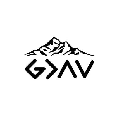 God is greater than the highs and the lows Vinyl Decal Sticker