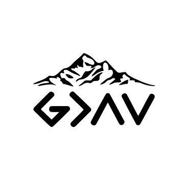 God is greater than the highs and the lows Vinyl Decal Sticker (Black)]()