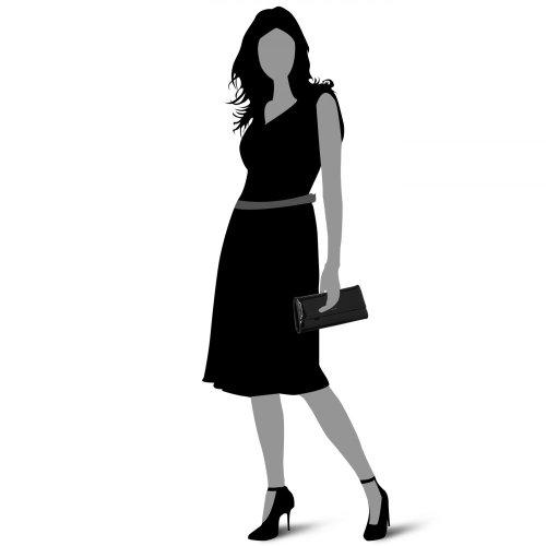 Picard Auguri - Bolsos maletín Mujer Black-Lack Croco (Negro)