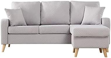 Sofá de esquina contemporáneo reversible - Tejido.: Amazon ...