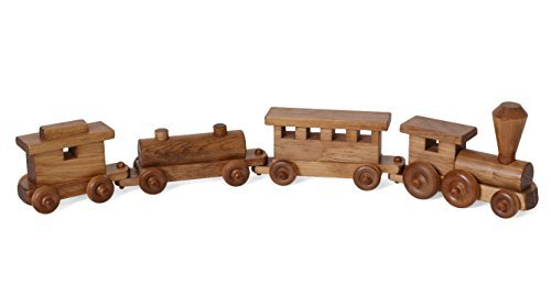 Amish-Made-Wooden-24-Toy-Train-Play-Set-Kid-Safe-Finish
