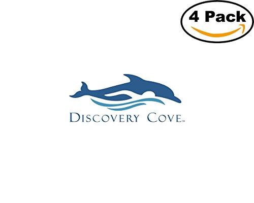 Discovery Cove 4 Stickers 4X4 inches Car Bumper Window Sticker Decal (Cove Window)