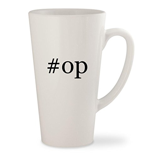Price comparison product image op - White Hashtag 17oz Ceramic Latte Mug Cup