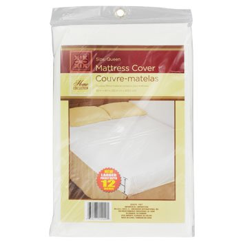 Queen Size Fitted Mattress Cover White 60 x 80 Waterproof Protection