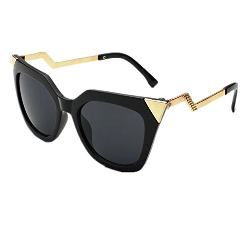 HUASHI Women's Metal Triangle Cat's Eye Sunglasses Personality Style Sunglasses Color - Glasses Ray Bands Eye