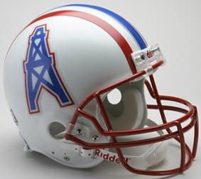 Riddell Houston Oilers / Tennessee Titans 1981-1996 Authentic Throwback Helmet