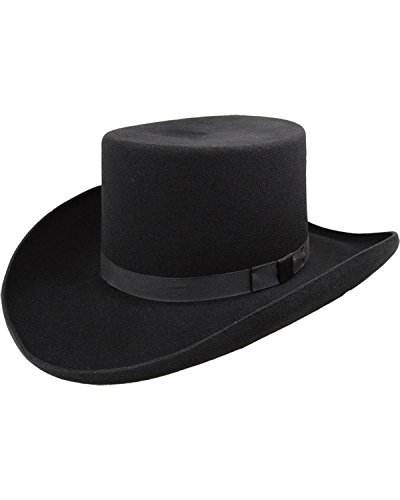 Bailey Men's Western Dillinger Flat Top Hat Black 6 3/4 ()