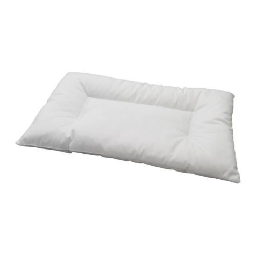 IKEA LEN Crib Pillow, White 728.972.10, 14 in x 22 in multi-colored