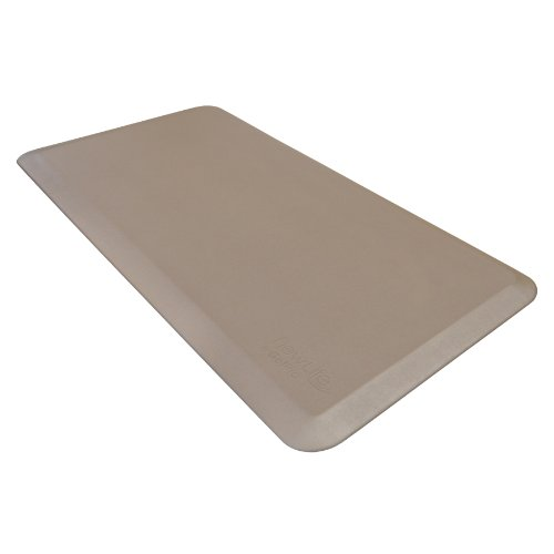 "NewLife by GelPro Anti Fatigue Mat: Eco-Pro Foam Anti-Fatigue Comfort Mat - Standing Desk Pad - Professional Floor Mats for Commercial & Industrial Work - 20"" x 48"" Non Slip Ergonomic Mat - Taupe by NewLife by GelPro"