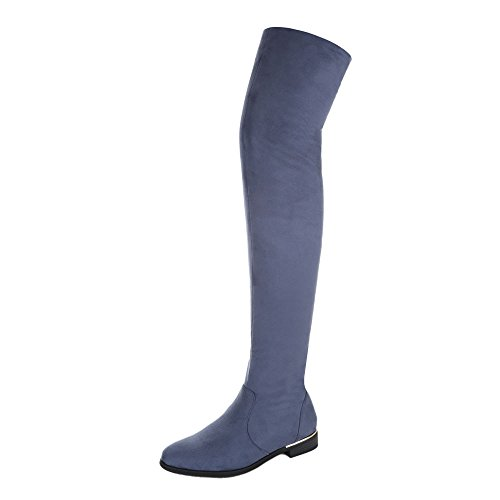Ital-Design - botas clásicas Mujer azul claro