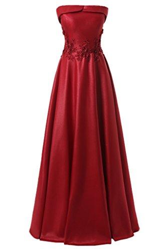Satin Strapless Gown - 8