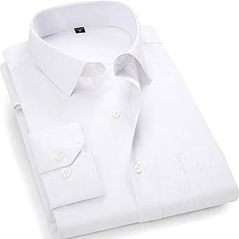Más Tamaño Grande 8XL 7XL 6XL 5XL Hombres Negocio Casual Casual Mangalarga Camisa Clásica Blanco Negro Oscuro Azul Masculino Camisetas De Vestido Social: Amazon.es: Ropa y accesorios