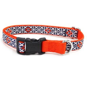 Waggo Seeing Stars Collar - Navy - Medium - 15-22 x 3/4 inches