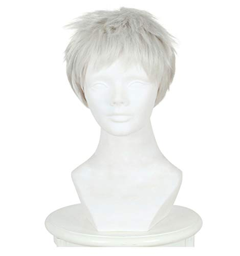 DAZCOS for Soldier 76 Halloween Comic Cosplay Short Wig (White) -