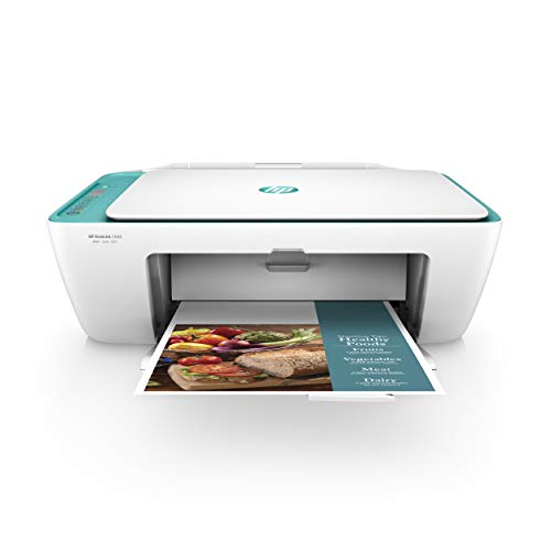 HP DeskJet 2640 All-in-One Wireless Color Inkjet Printer Scanner Copier White/Teal