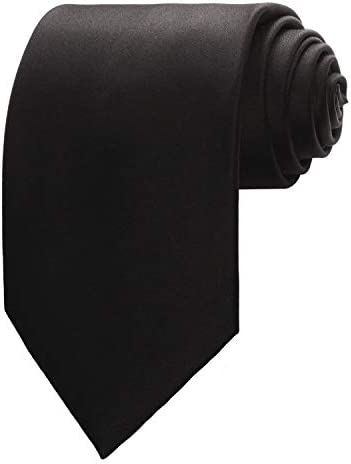 Black Mens Solid Color Ties product image